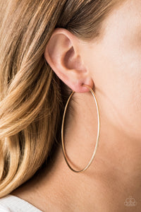 Paparazzi Accessories Meet Your Maker - Gold Hoop Earring - Be Adored Jewelry