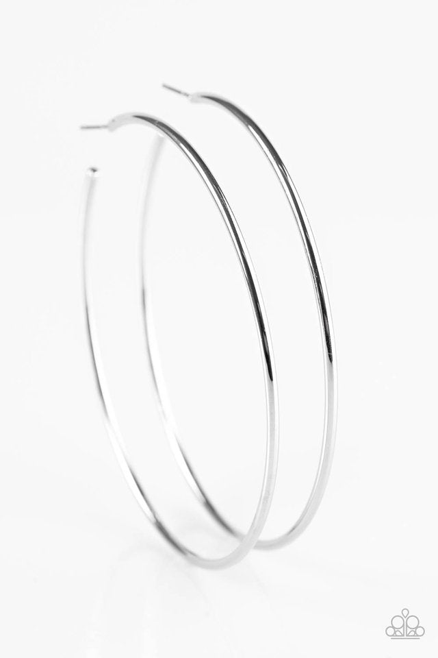 Paparazzi Accessories Meet Your Maker - Silver Hoop Earring - Be Adored Jewelry