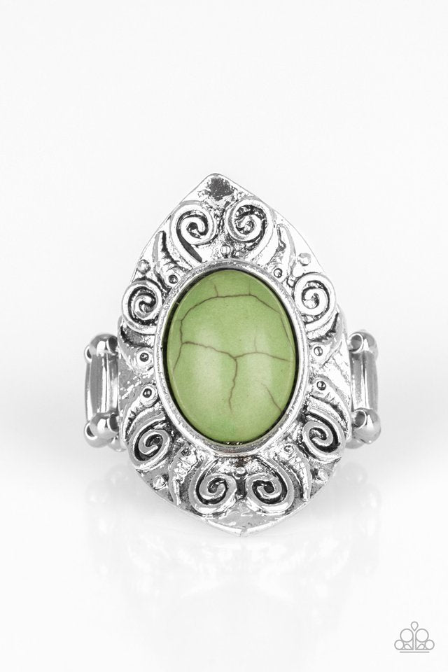 Paparazzi Accessories Mega Mother Nature - Green Ring - Be Adored Jewelry