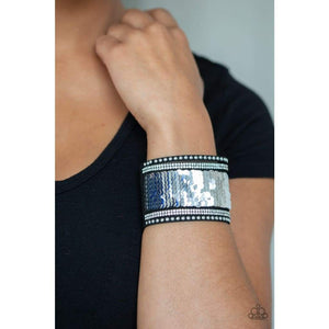 Paparazzi Accessories MERMAIDS Have More Fun - Blue Urban Bracelet - Be Adored Jewelry