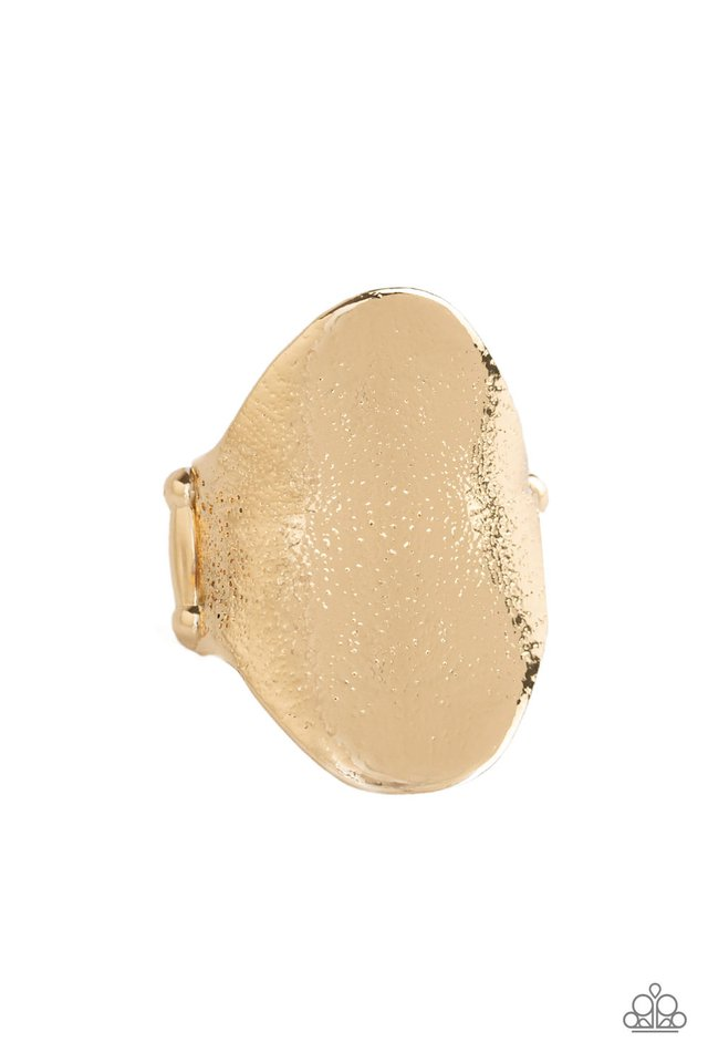 Paparazzi Metro Mirror - Gold Ring - Be Adored Jewelry