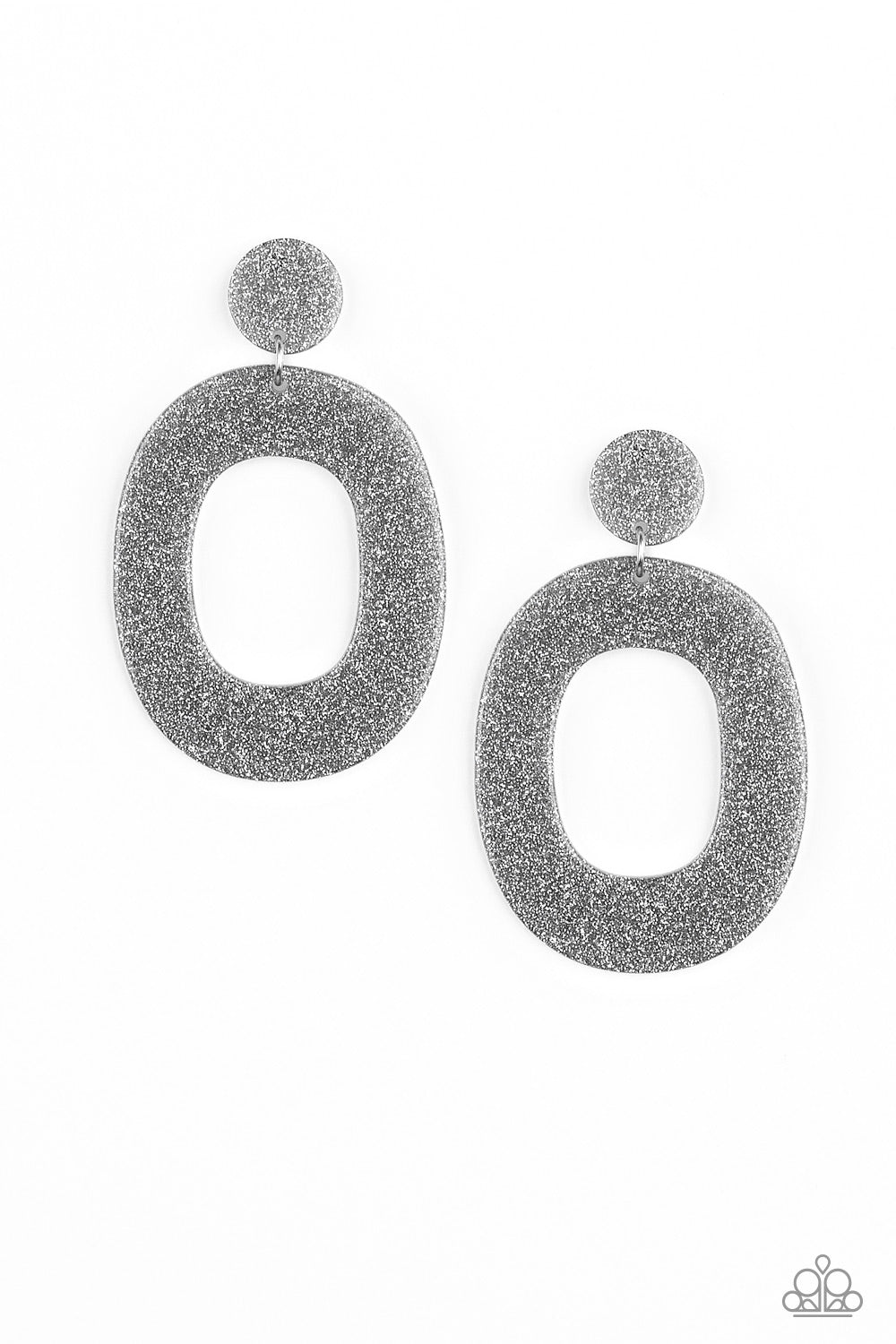Paparazzi Accessories Miami Boulevard - Silver Earring - Be Adored Jewelry