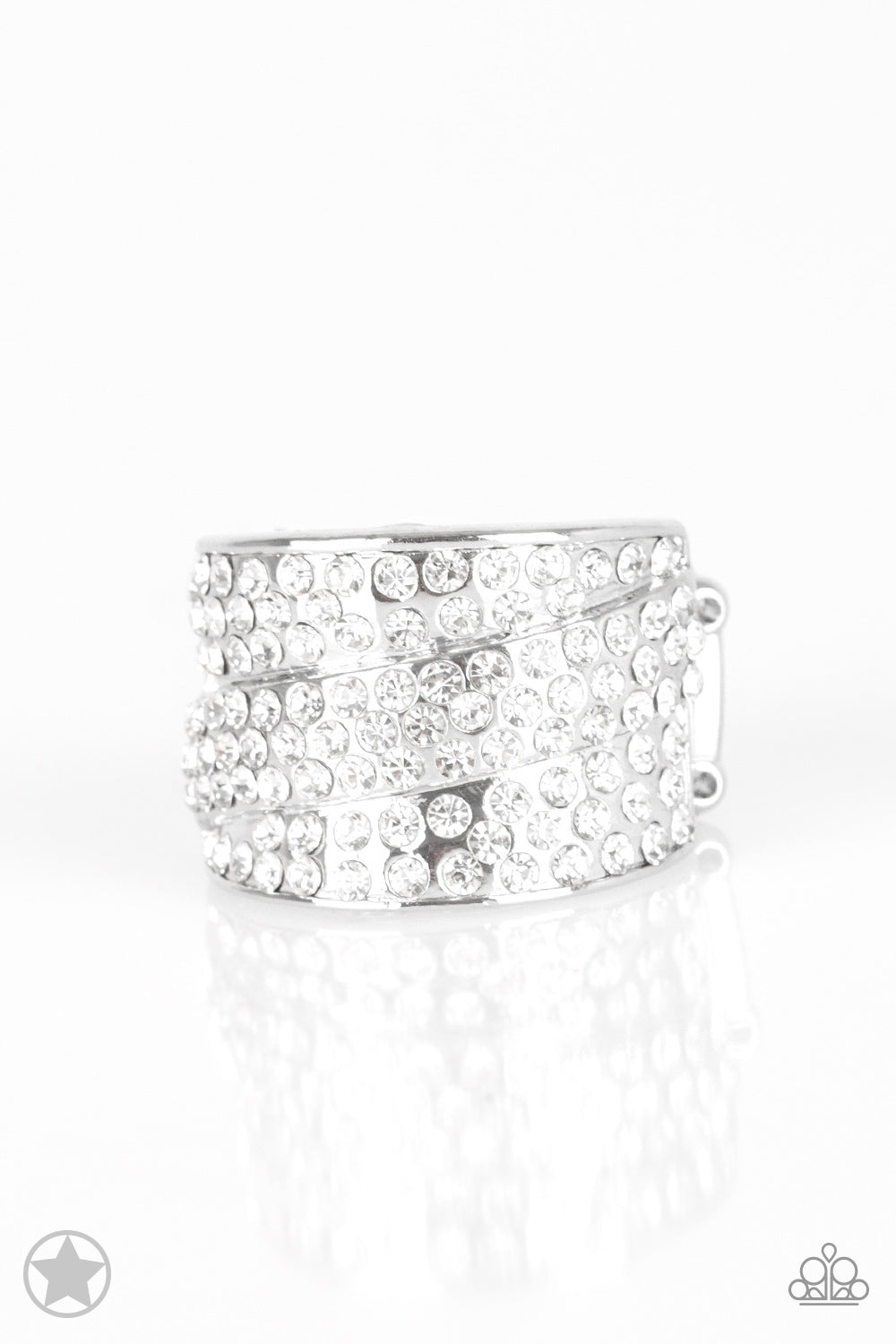 Paparazzi Millionaires Club - White Ring - Be Adored Jewelry