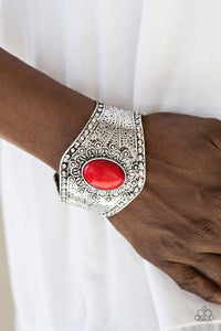 Paparazzi Accessories Mojave Majesty - Red Bracelet - Be Adored Jewelry