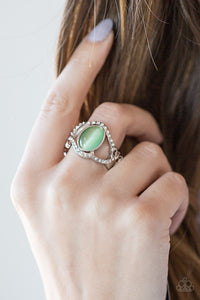 Paparazzi Accessories Moulin Moon - Green Ring - Be Adored Jewelry