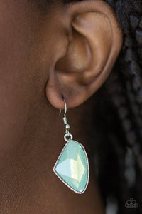 Paparazzi Mystic Mist - Green Earring - Be Adored Jewelry