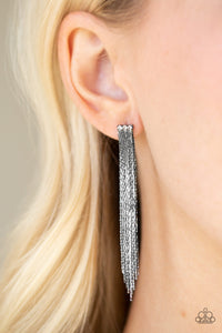 Paparazzi Accessories Night At The Oscars - Black Earring - Be Adored Jewelry