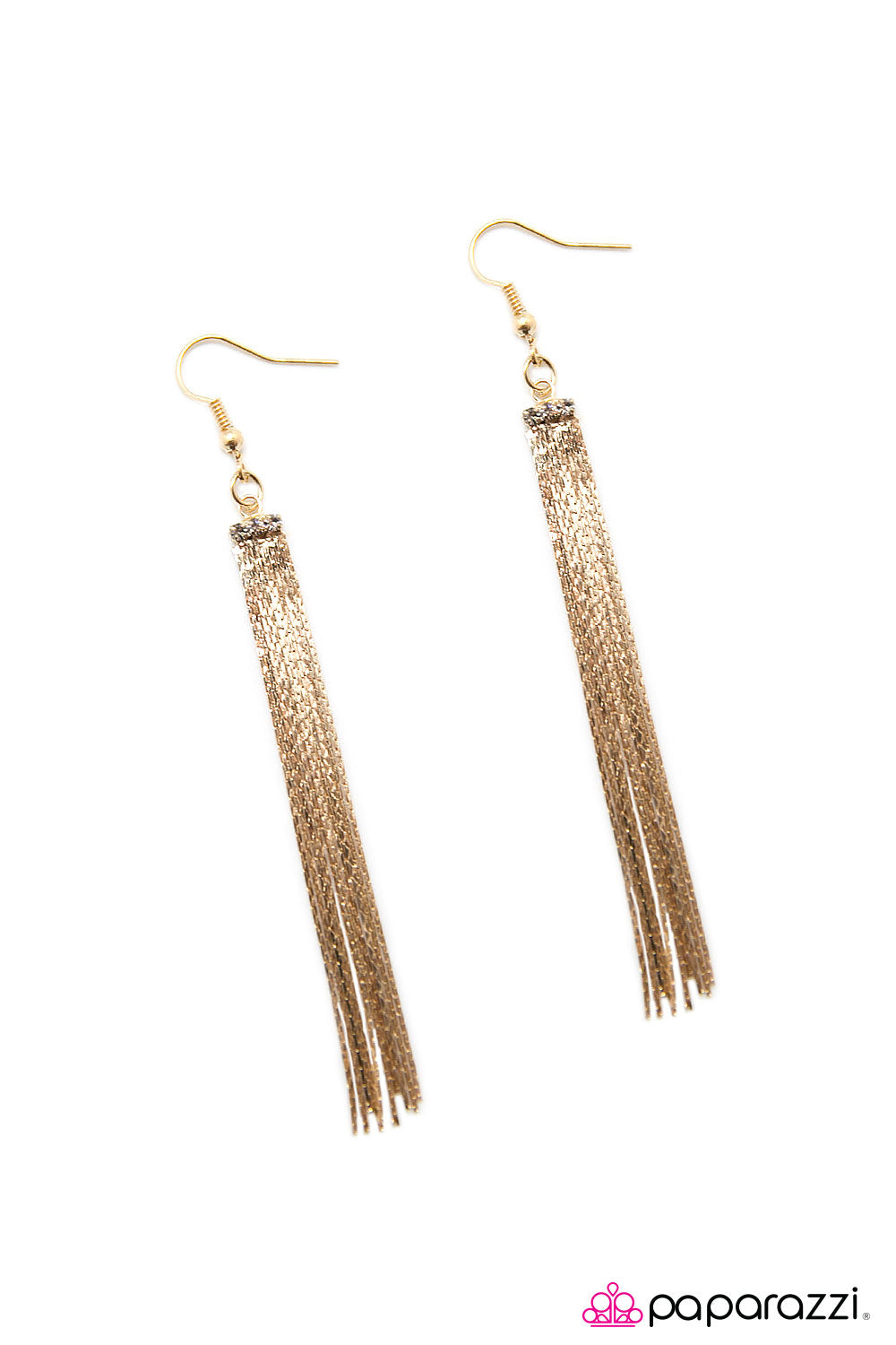 Paparazzi Accessories Night At The Oscars - Gold Earring - Be Adored Jewelry