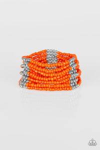 Paparazzi Outback Odyssey - Orange Bracelet - Be Adored Jewelry