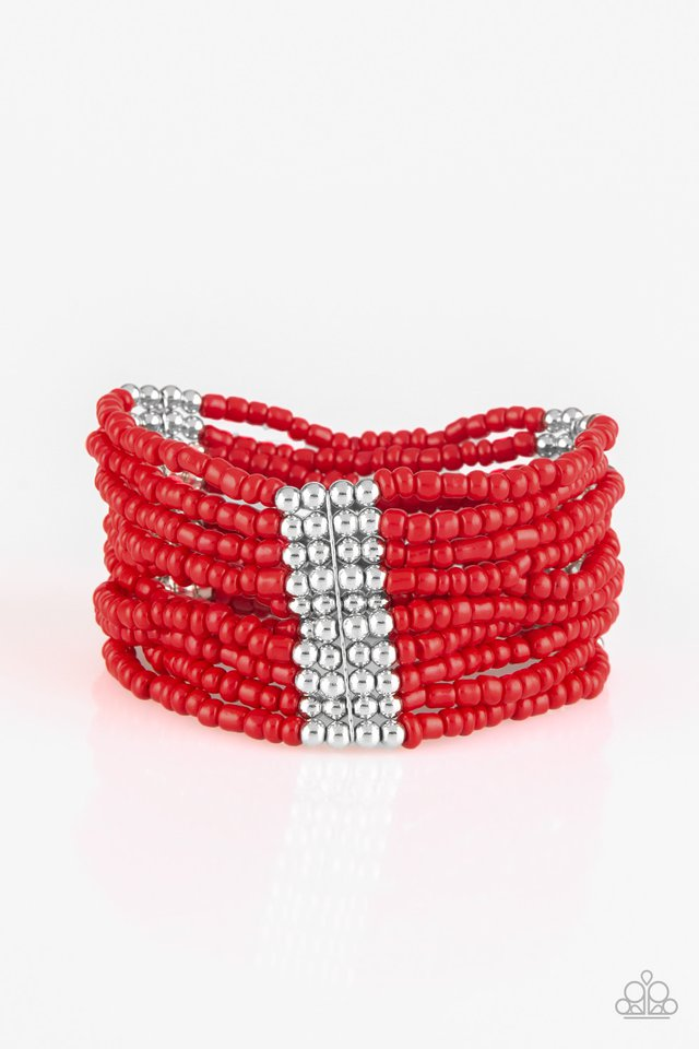 Paparazzi Outback Odyssey - Red Bracelet - Be Adored Jewelry