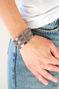 Paparazzi Perfectly Patterned - Black Bracelet - Be Adored Jewelry