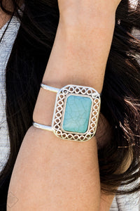 Paparazzi Accessories Plains and Simple - Blue Bracelet Simply Sante Fe Fashion Fix - Be Adored Jewelry