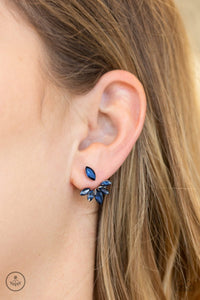 Paparazzi Accessories Radical Refinement - Blue Earring - Be Adored Jewelry