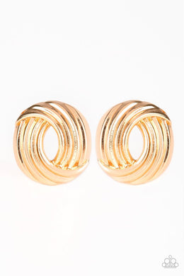 Rare Refinement - Paparazzi Gold Post Earring - Be Adored Jewelry