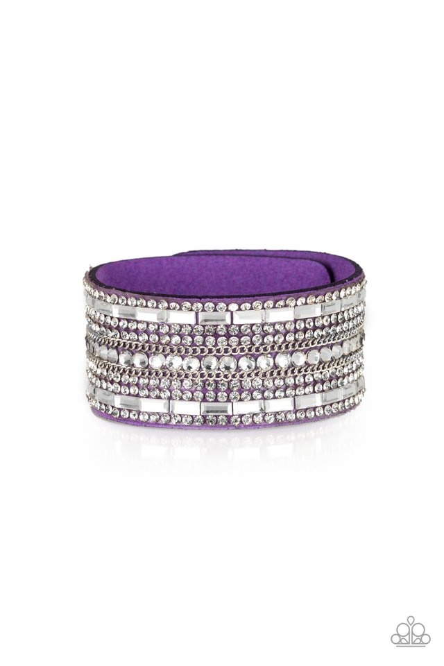 Paparazzi Accessories Rebel Radiance - Purple Wrap Bracelet - Be Adored Jewelry