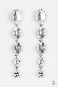 Paparazzi Accessories Red Carpet Radiance - White Rhinestones Earring - Be Adored Jewelry