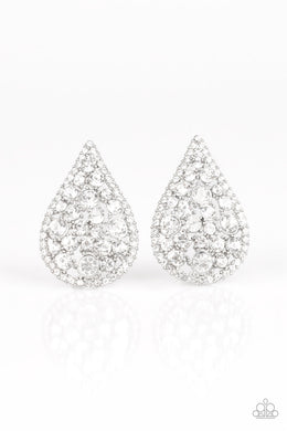 Be Adored Jewelry REIGN-Storm White Paparazzi Earring
