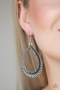 Paparazzi Accessories Right As REIGN - Silver Earring - Be Adored Jewelry