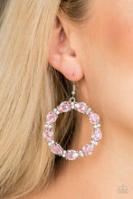Load image into Gallery viewer, Paparazzi Accessories Ring Around The Rhinestones - Pink Earring - Be Adored Jewelry