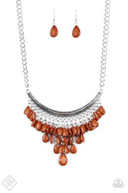 Rio Rainfall - Brown Paparazzi Necklace - Be Adored Jewelry