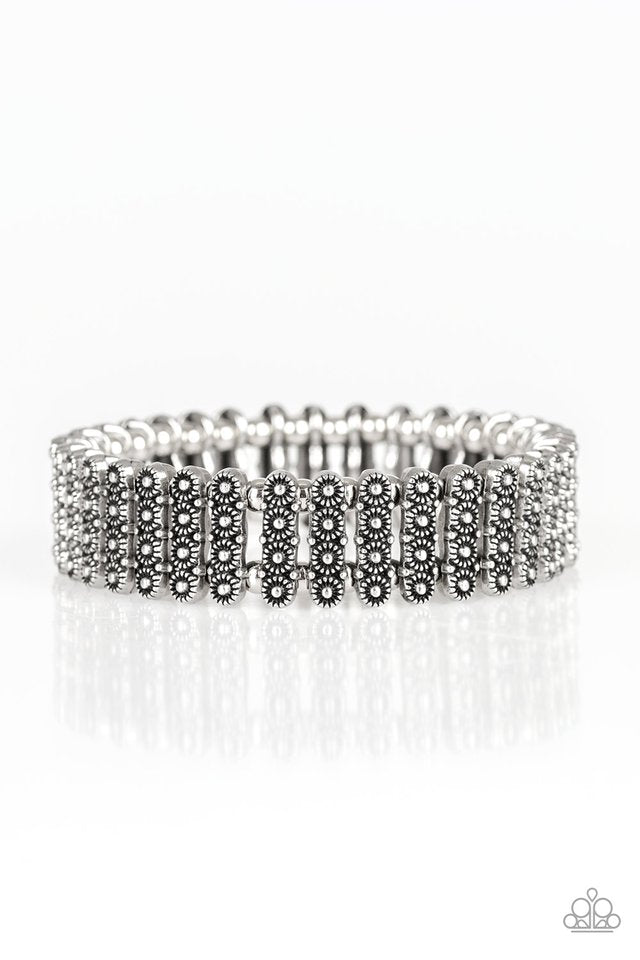 Paparazzi Rise With The Sun - Silver Bracelet - Be Adored Jewelry