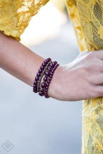 Load image into Gallery viewer, Paparazzi Accessories Rockin' Rococo - Purple Bracelet Glimpse of Malibu Fashion Fix - Be Adored Jewelry