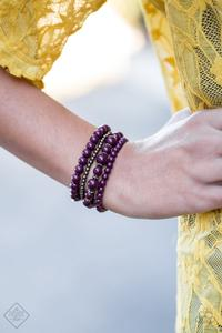 Paparazzi Accessories Rockin' Rococo - Purple Bracelet Glimpse of Malibu Fashion Fix - Be Adored Jewelry