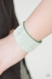 Paparazzi Accessories Roll With The Punches - Green Urban Bracelet - Be Adored Jewelry