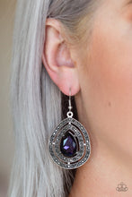 Load image into Gallery viewer, Paparazzi Accessories Royal Squad - Purple Earring - Be Adored Jewelry