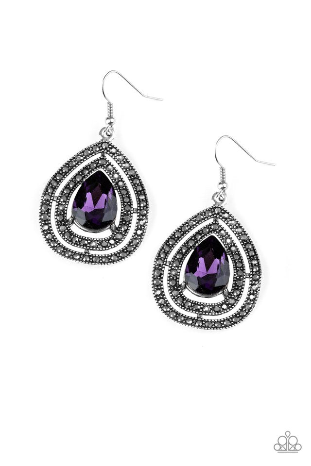 Paparazzi Accessories Royal Squad - Purple Earring - Be Adored Jewelry