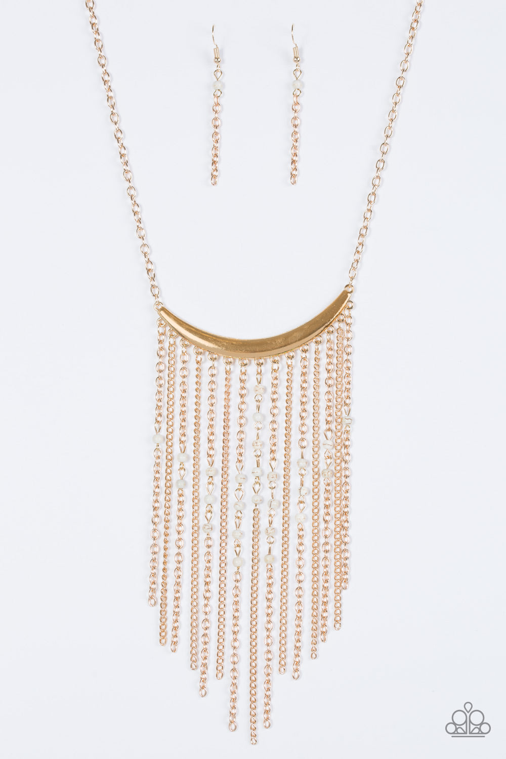 Paparazzi Accessories Runaway Rumba - Gold Necklace - Be Adored Jewelry