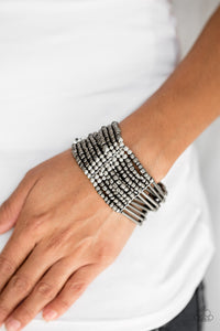 Paparazzi Accessories Rural Retreat - Black Bracelet - Be Adored Jewelry