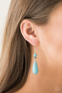 Paparazzi Accessories Sandstone Sunflowers - Blue Earring - Be Adored Jewelry