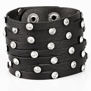 Paparazzi Accessories Sass Squad - Black Bracelet - Be Adored Jewelry
