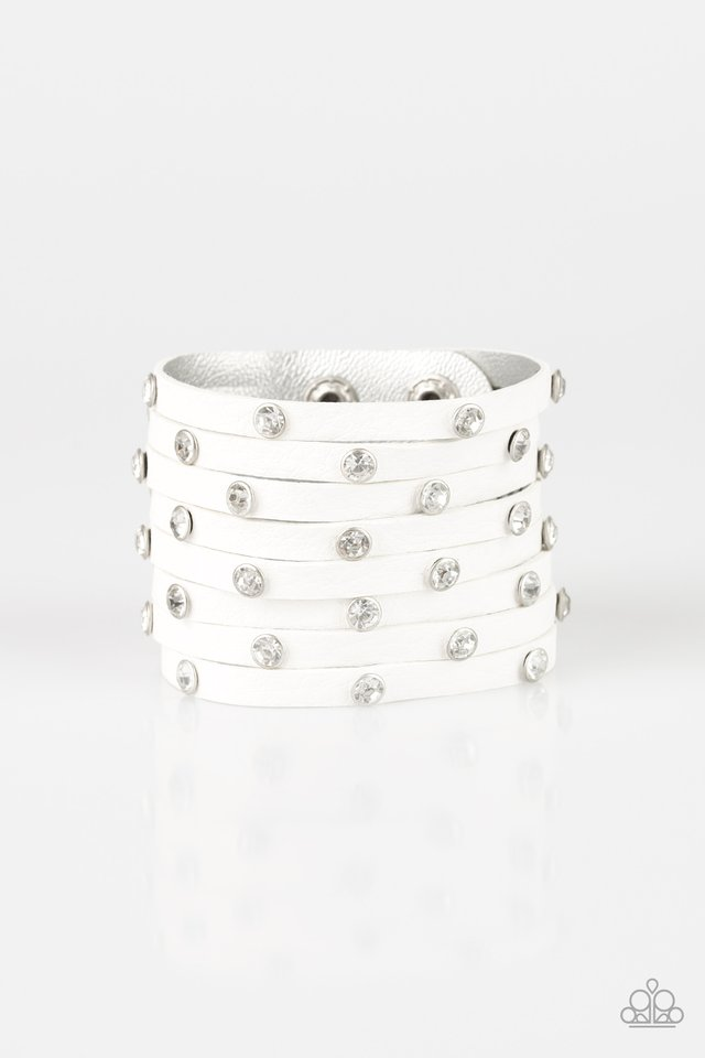 Paparazzi Accessories Sass Squad - White Bracelet - Be Adored Jewelry