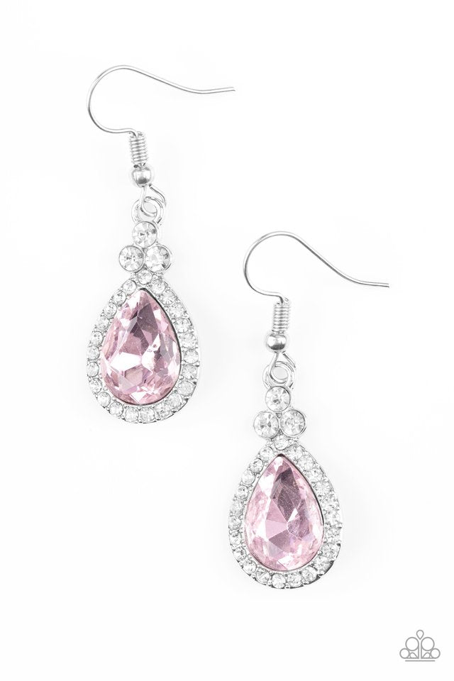 Paparazzi Accessories Self-Made Millionaire - Pink Earring - Be Adored Jewelry