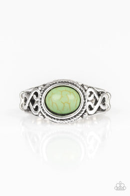 Paparazzi Set In Stone - Green Ring - Be Adored Jewelry