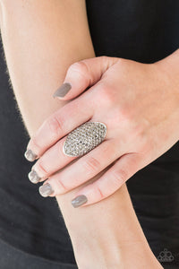 Paparazzi Shazam! - Silver Ring - Be Adored Jewelry