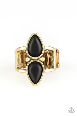 Paparazzi Simply Saharan - Brass Ring - Be Adored Jewelry