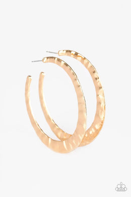 Paparazzi Accessories Slayers Gonna Slay - Gold Hoop Earring - Be Adored Jewelry