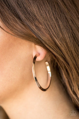 Be Adored Jewelry Some Like It HAUTE - Rose Gold Paparazzi Hoop Earring