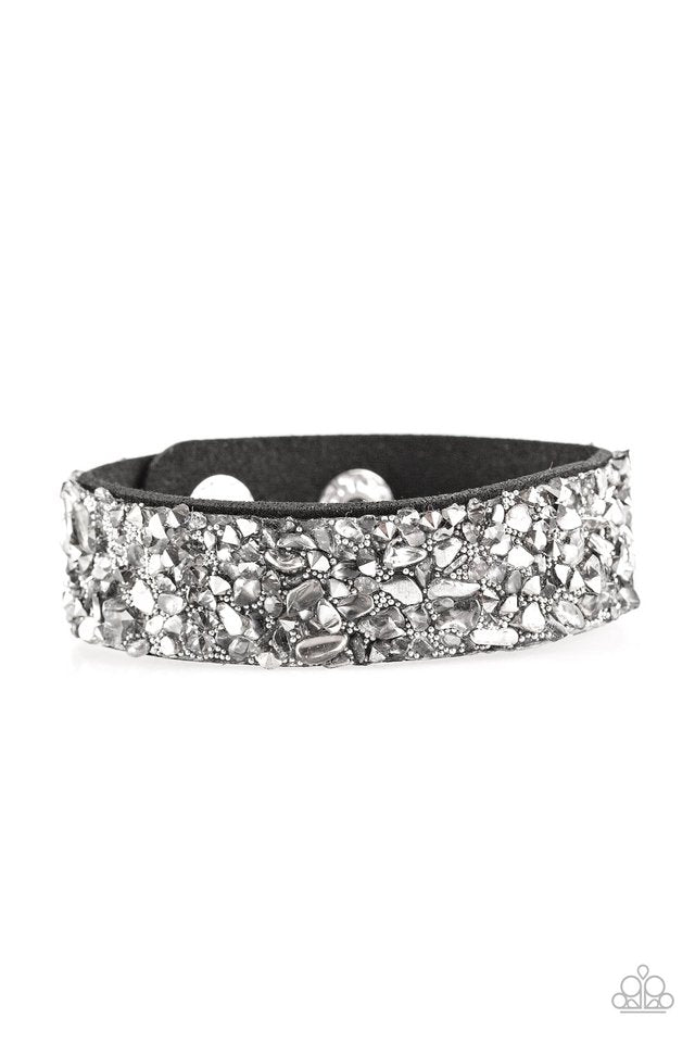 Paparazzi Accessories Stardust Sparkle - Silver Urban Bracelet - Be Adored Jewelry