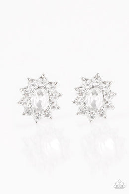 Paparazzi Accessories Starry Nights - White Post Earring - Be Adored Jewelry