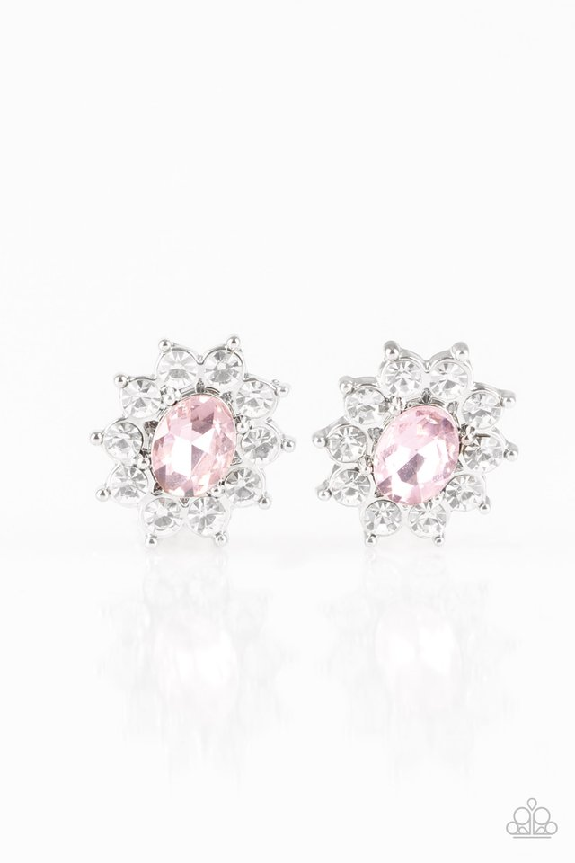 Paparazzi Accessories Starry Nights - Pink Post Earring - Be Adored Jewelry