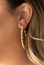 Load image into Gallery viewer, Paparazzi Accessories Street Mod - Gold Hoop Earring - Be Adored Jewelry