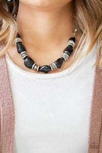 Stunningly Stone Age - Paparazzi Black Necklace - Be Adored Jewelry