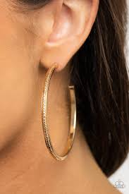 Be Adored Jewelry Sultry Shimmer Gold Paparazzi Hoop Earring