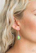 Load image into Gallery viewer, Paparazzi Accessories Summer Vacay - Green Earring - Be Adored Jewelry