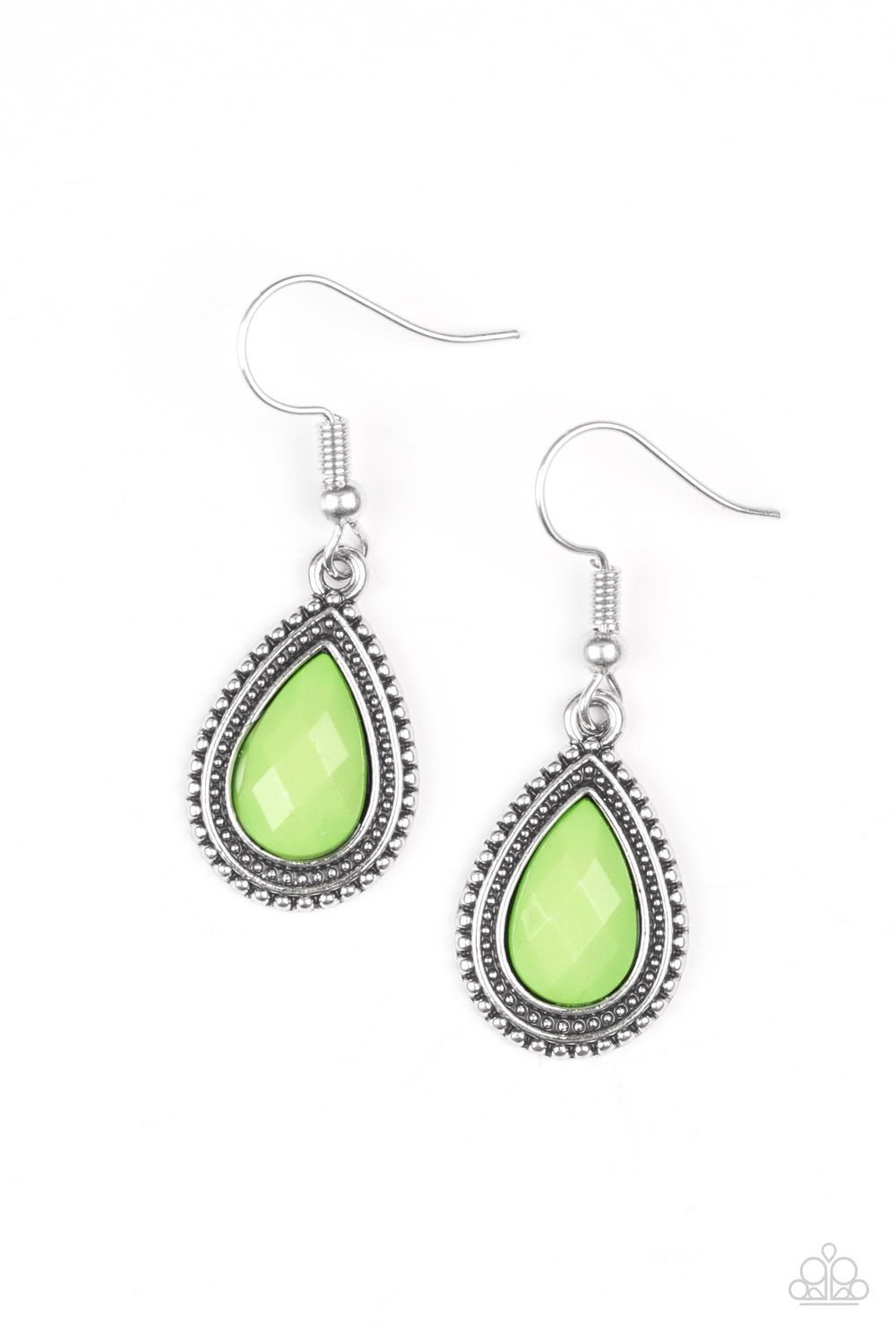 Paparazzi Accessories Summer Vacay - Green Earring - Be Adored Jewelry