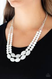Sundae Shoppe - Paparazzi White Necklace - Be Adored Jewelry